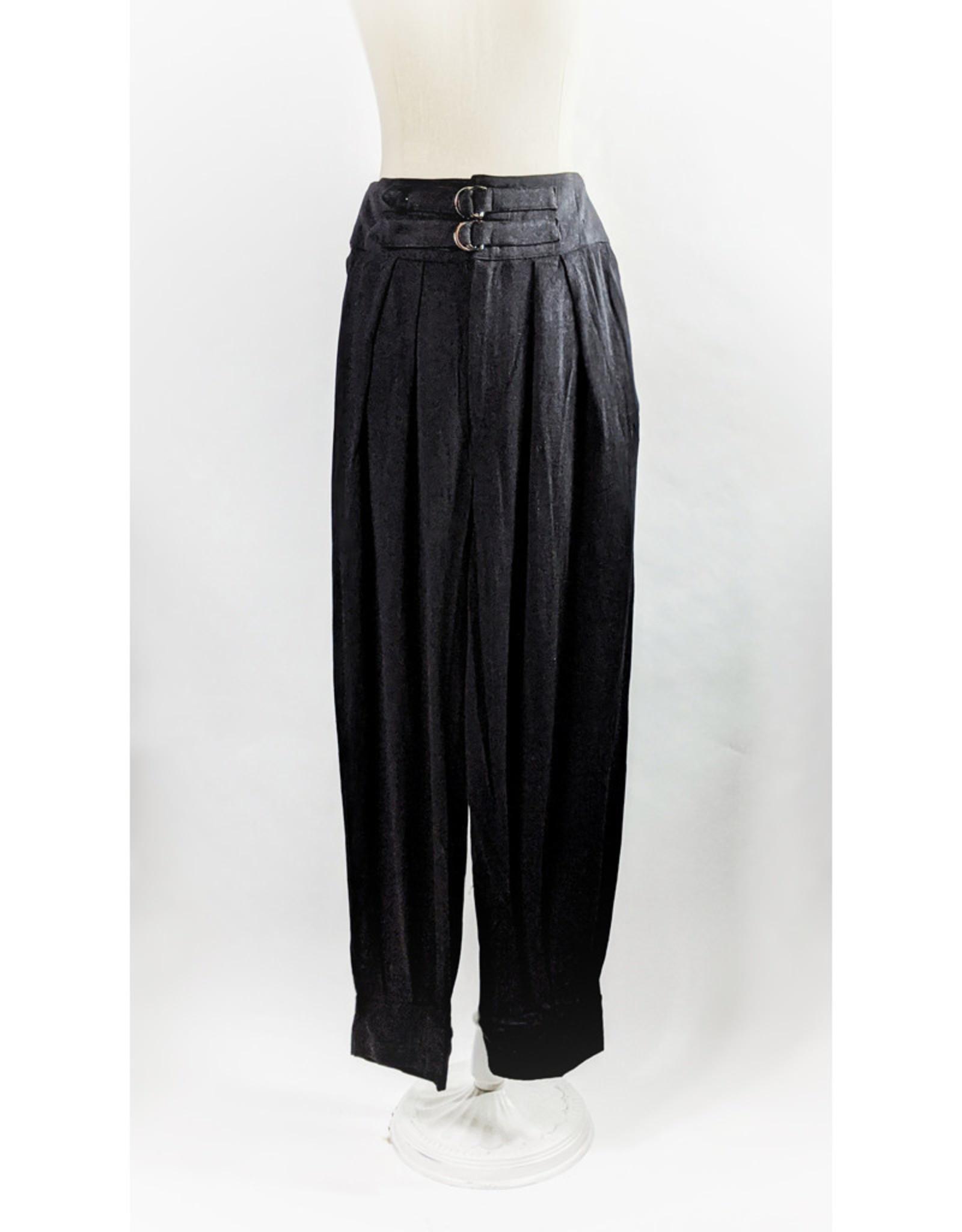 ILLA ILLA Black High Waist Pant w/Buckles