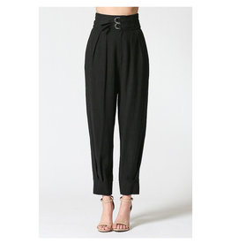 ILLA ILLA Black High Waist Pant w/Buckles