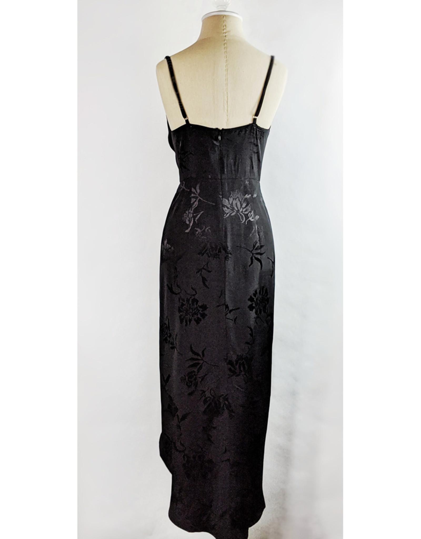 Skylar Madison Black Floral Wrap Front Maxi Dress