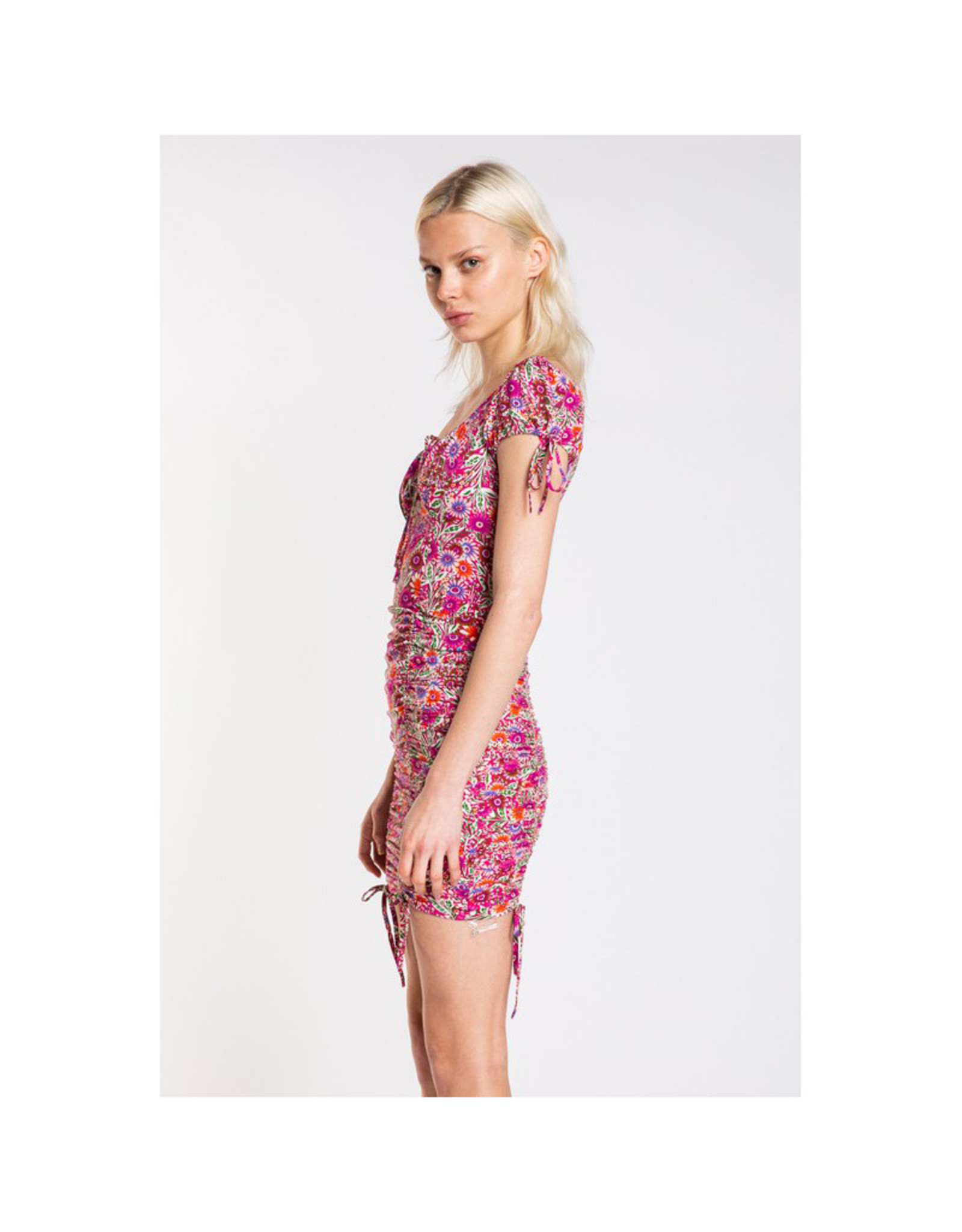 Skylar Madison Pink Peacock Mini Dress
