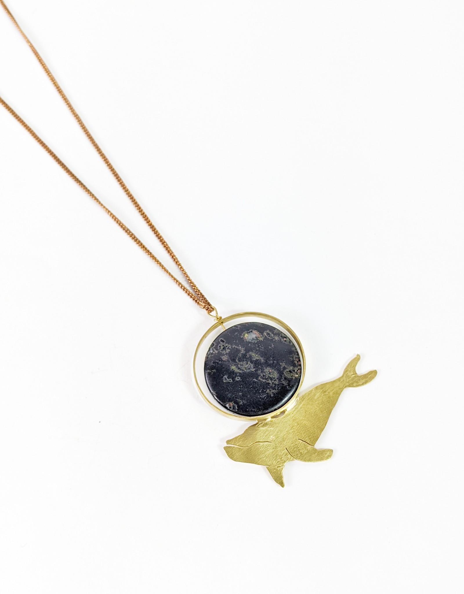 Serpentine Whale Necklace