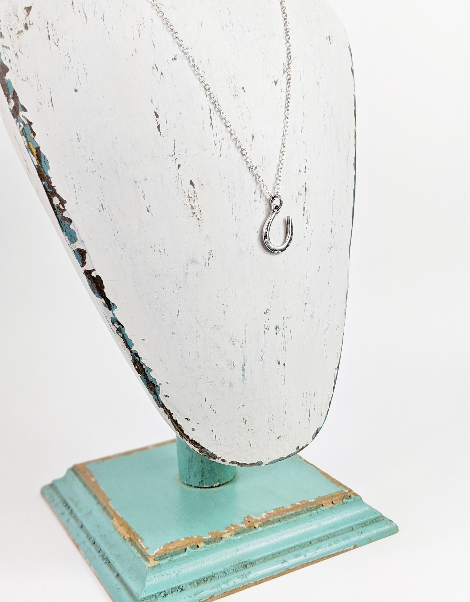 Bird in the Sky Silver Horseshoe Necklace