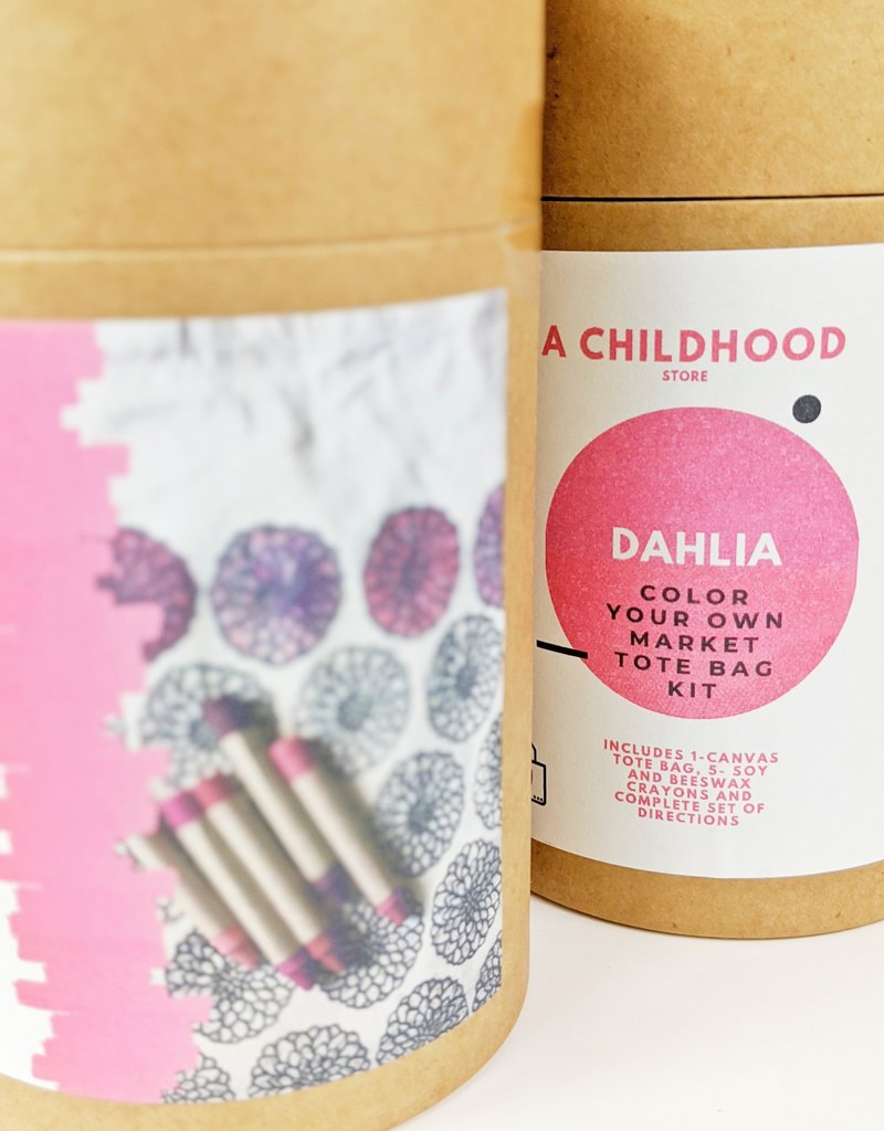 Childhood Store Color Your Tote Dahlia