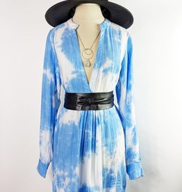Skylar Madison Blue Tie Dye Tunic
