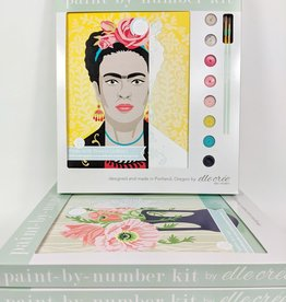 elle cree Yellow Frida Paint by Number