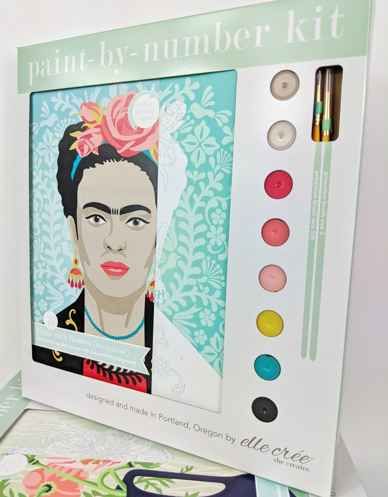 elle cree Turquoise Frida Paint by Number
