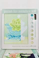 elle cree Succulent with Bird Paint by Number