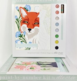 elle cree Fox with Chicory Paint by Number