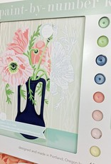 elle cree Poppies in Vase Paint by Number