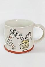 One Hundred 80 Degrees Stoneware Floral Mug