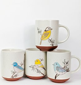 One Hundred 80 Degrees Colorful Bird Mug
