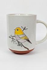 One Hundred 80 Degrees Colorful Bird Mug