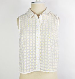 Le Lis Organza Daisy Sleeveless Top