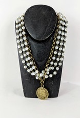 The Jewelry Junkie Pearl & Antique Coin Choker