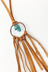 The Jewelry Junkie Leather & Turquoise Dream Catcher Necklace