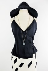 Sugarlips Black Tank w/Buckle Detail
