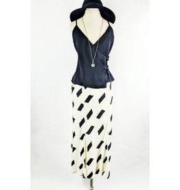 Sugarlips BW Geo Print Midi Skirt