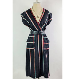 THML Black Stripe Pocket Dress