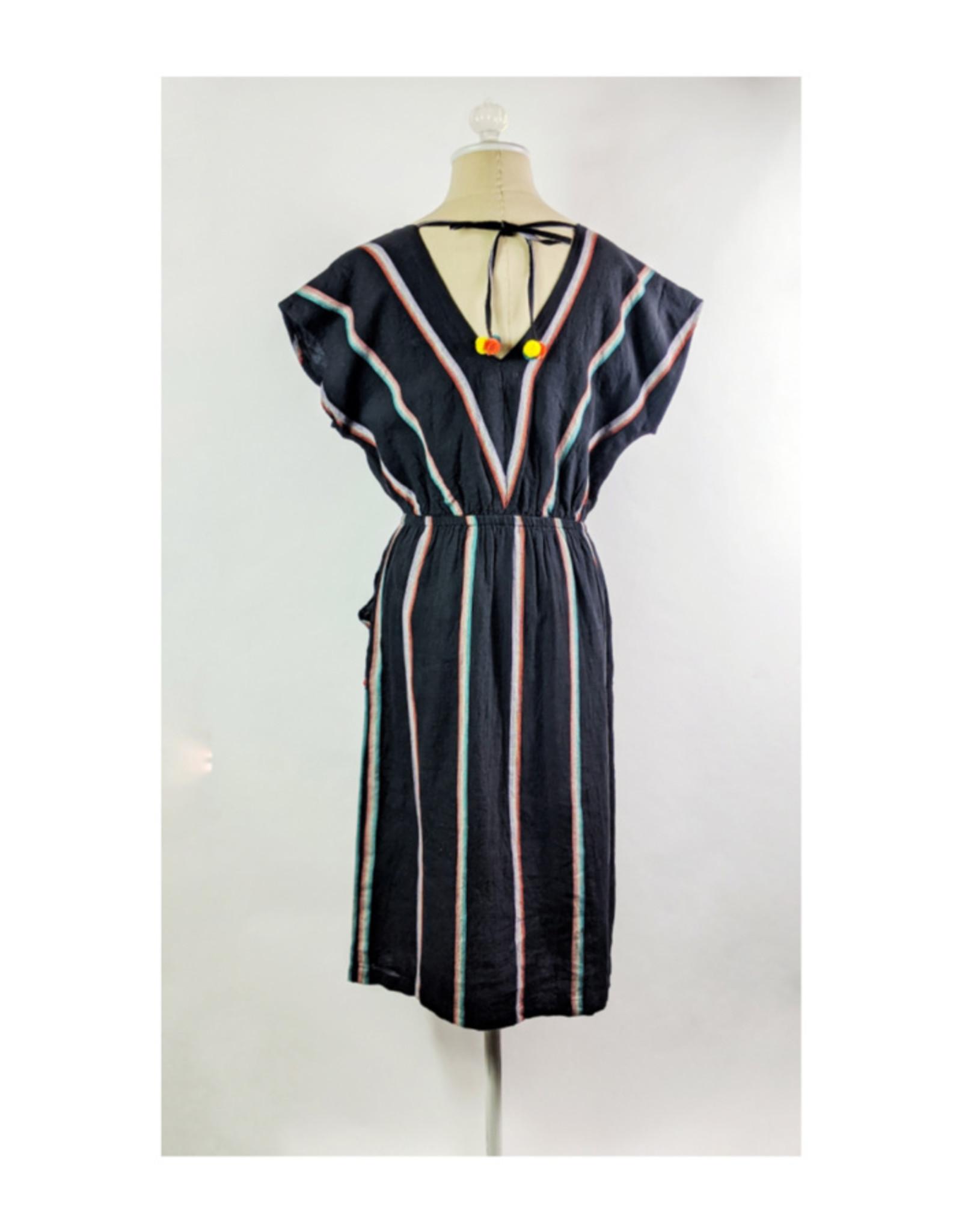 THML Black Stripe Pocket Dress