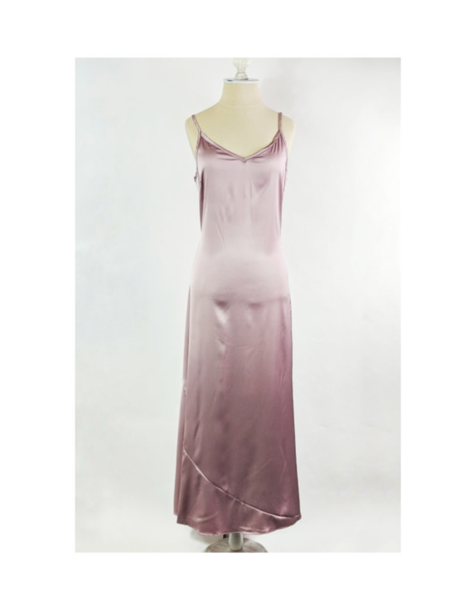 Sugarlips Champagne Satin Slip Dress