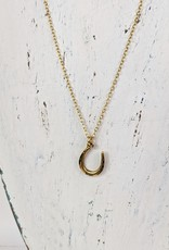 Bird in the Sky Gold Horseshoe Necklace