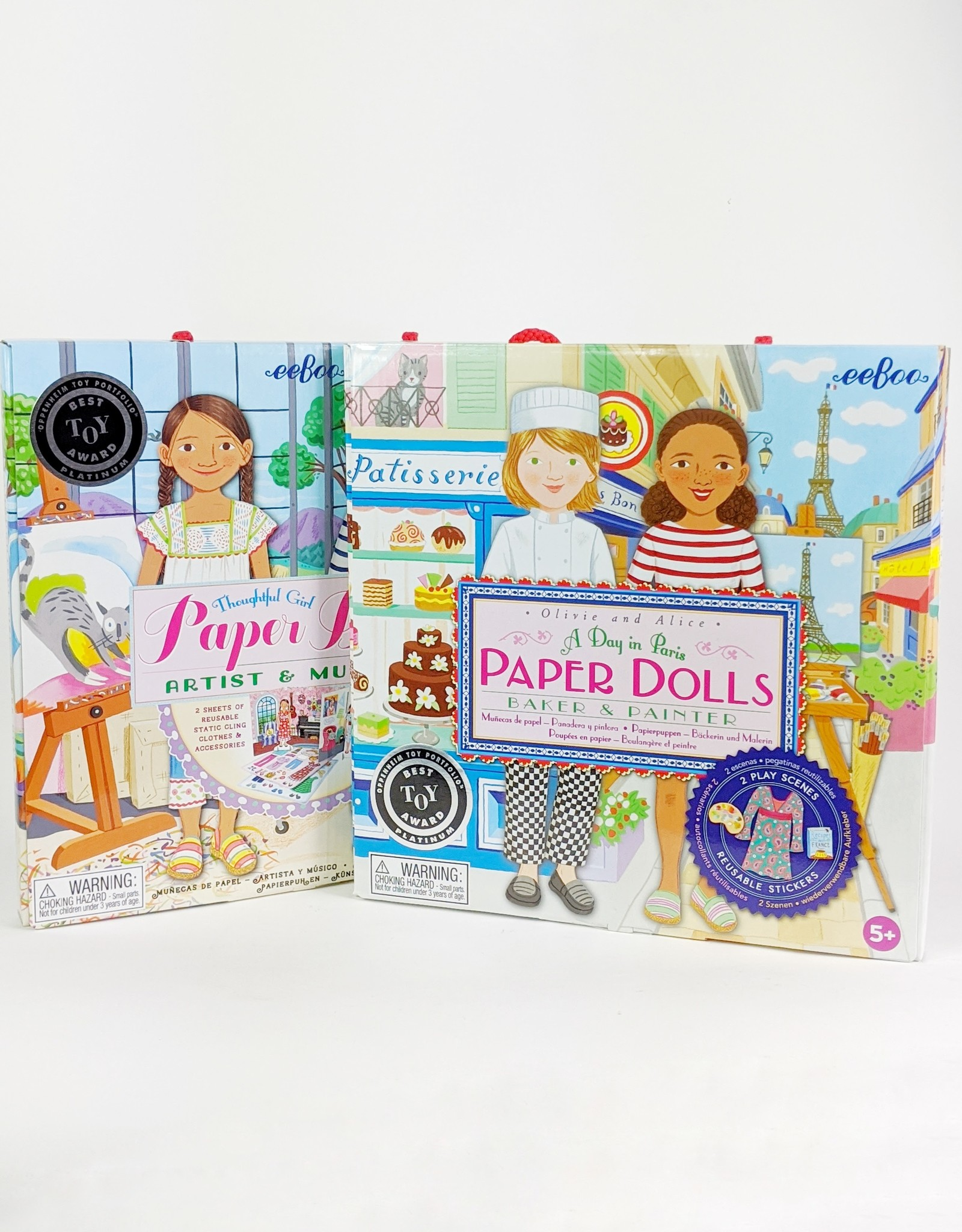 Eeboo A Day in Paris Paper Doll Set