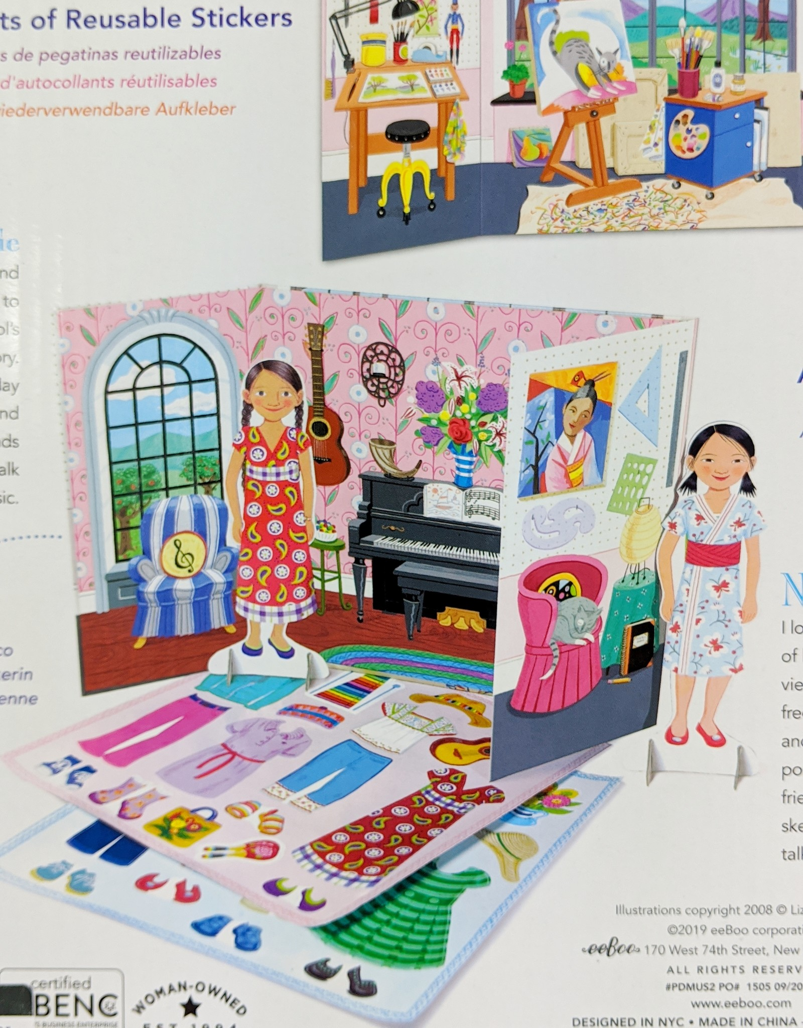 Eeboo Musician & Artist Paper Doll
