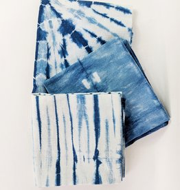 Fiber + Mud Indigo Dyed Shibori Tea Towel