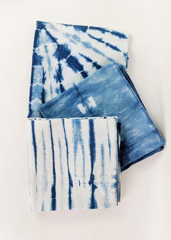 Fiber + Mud Indigo Dyed Shibori Tea Towel