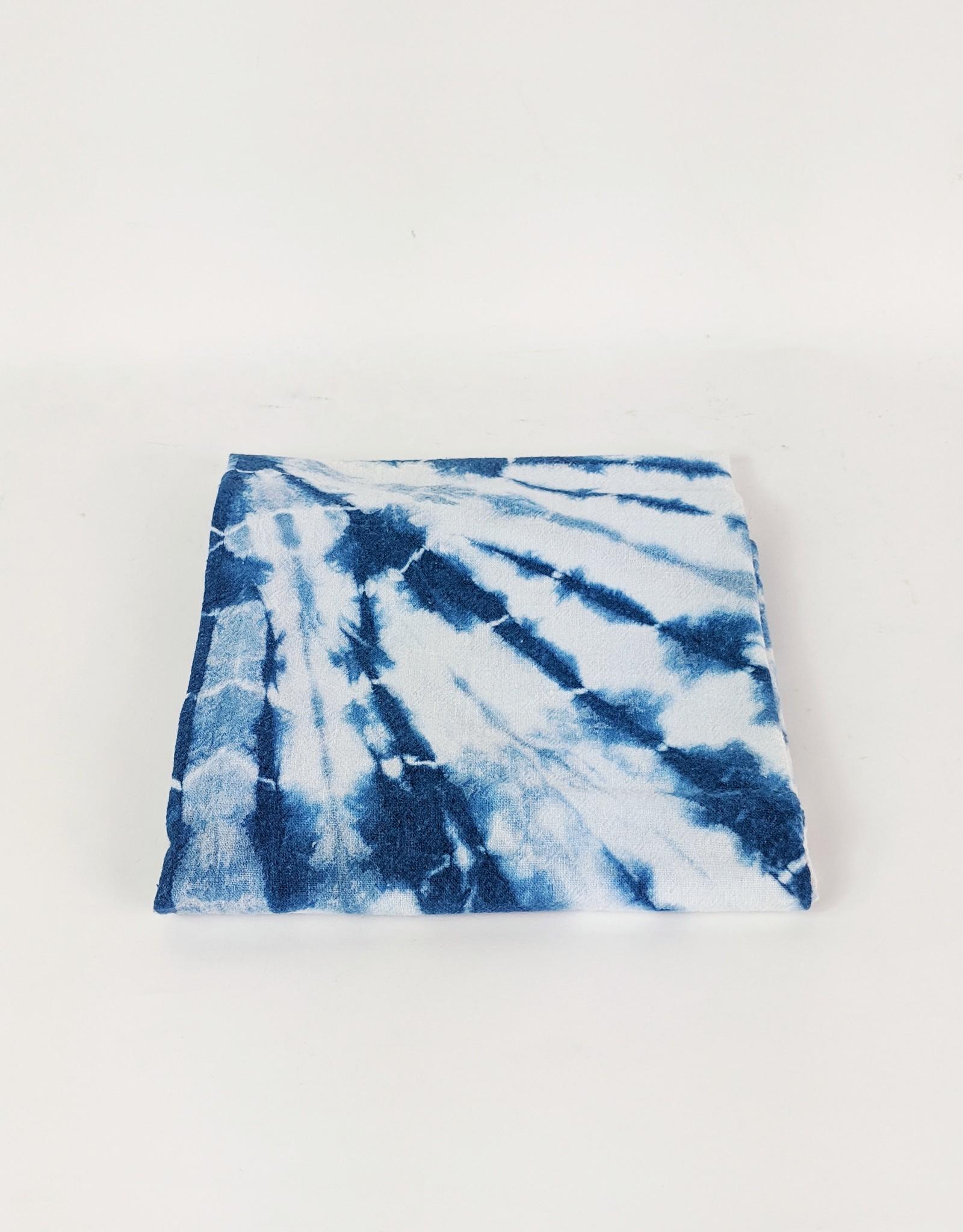 Indigo Dyed Shibori Tea Towel