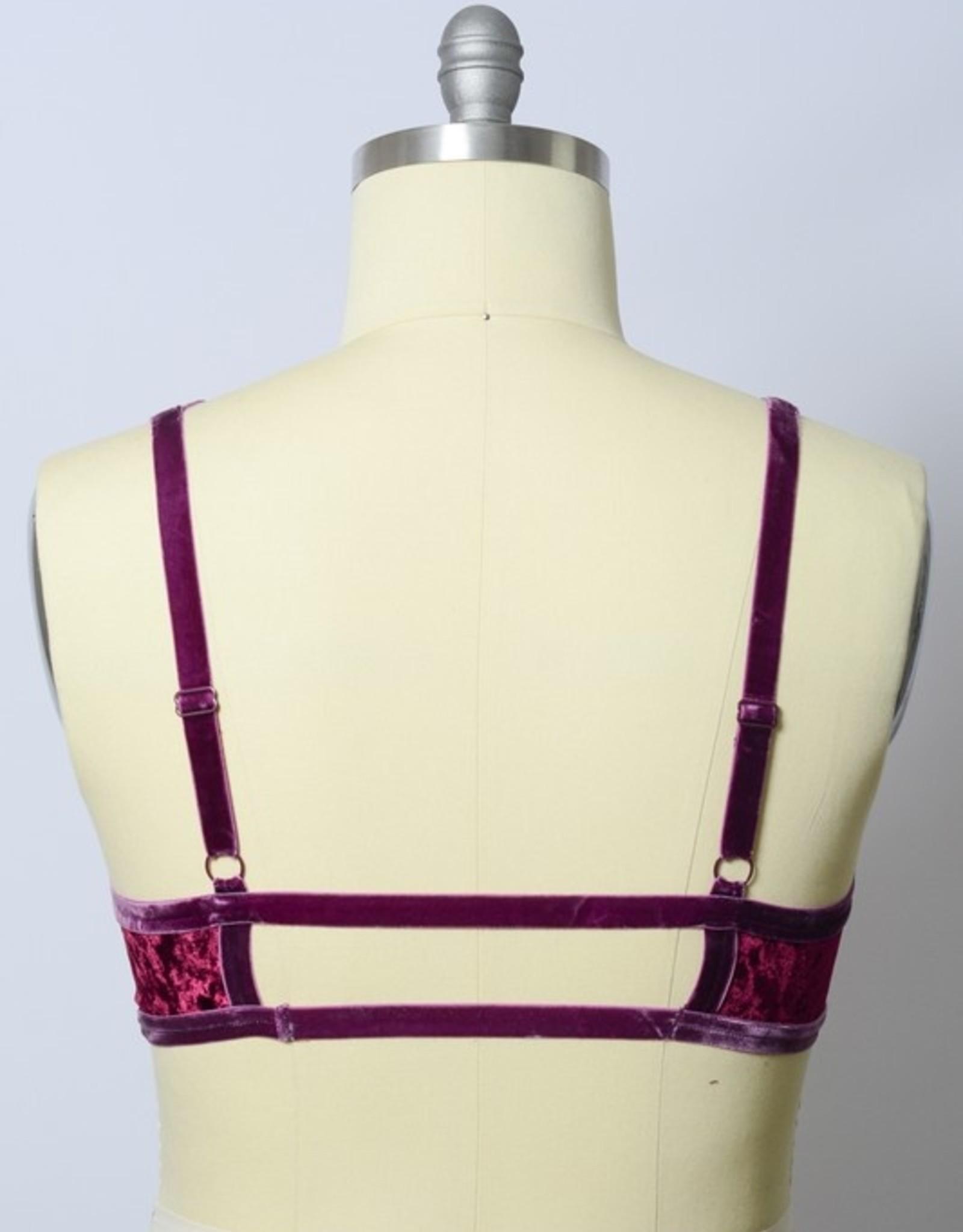 Leto Accessories Velvet Strappy Bralette Plus