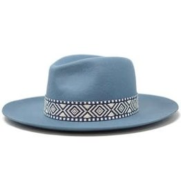 Olive & Pique Pinched Crown Fedora w/Jacquard Band