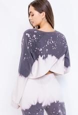 Le Lis Dip Dye Crop Sweatshirt