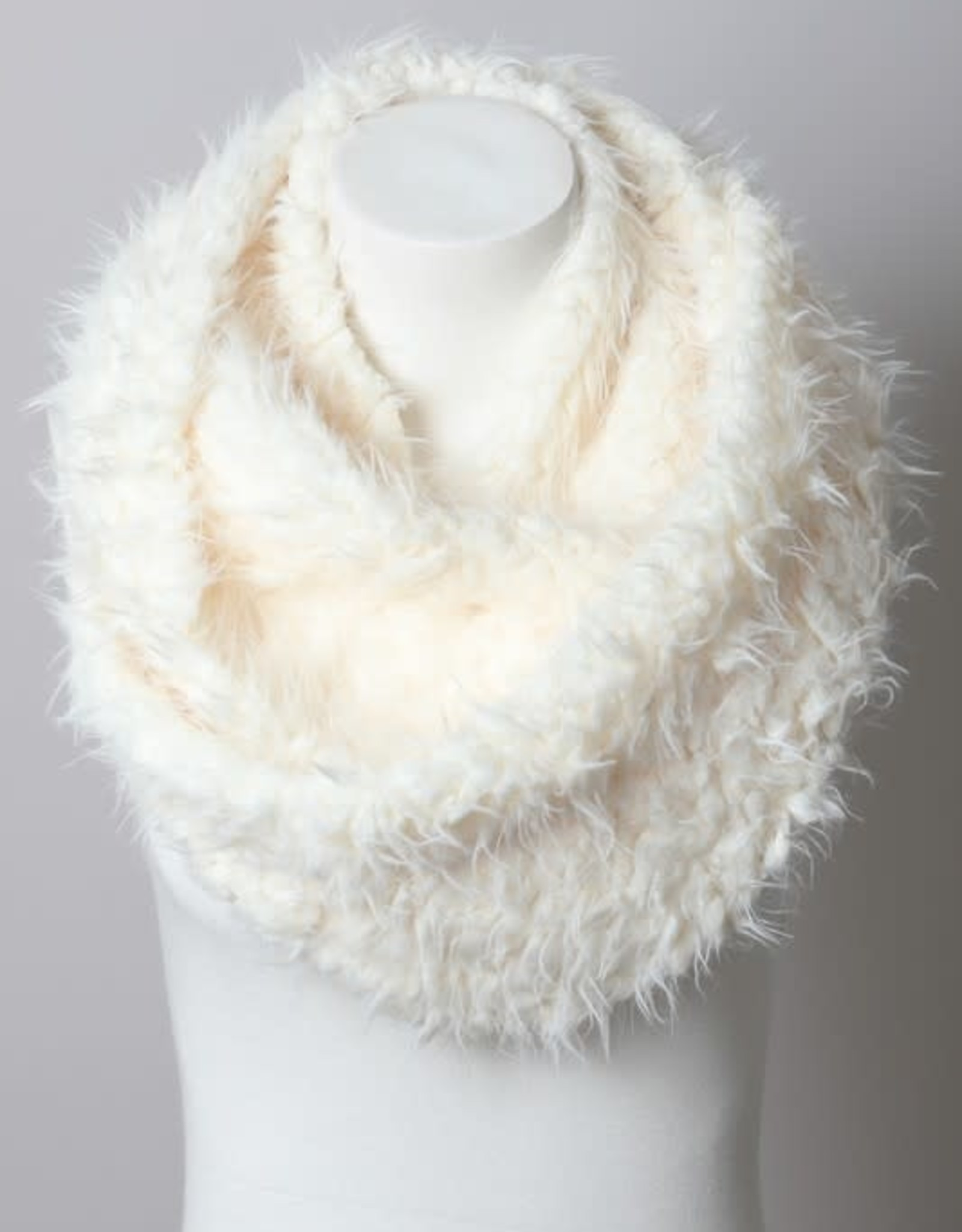 Leto Accessories Shaggy Faux Fur Scarf