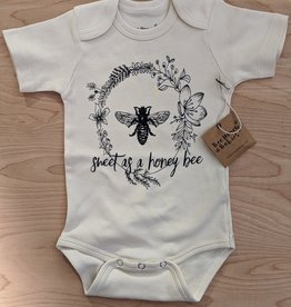 Bee Honey Babies Organic Cotton Short Sleeved Onsie