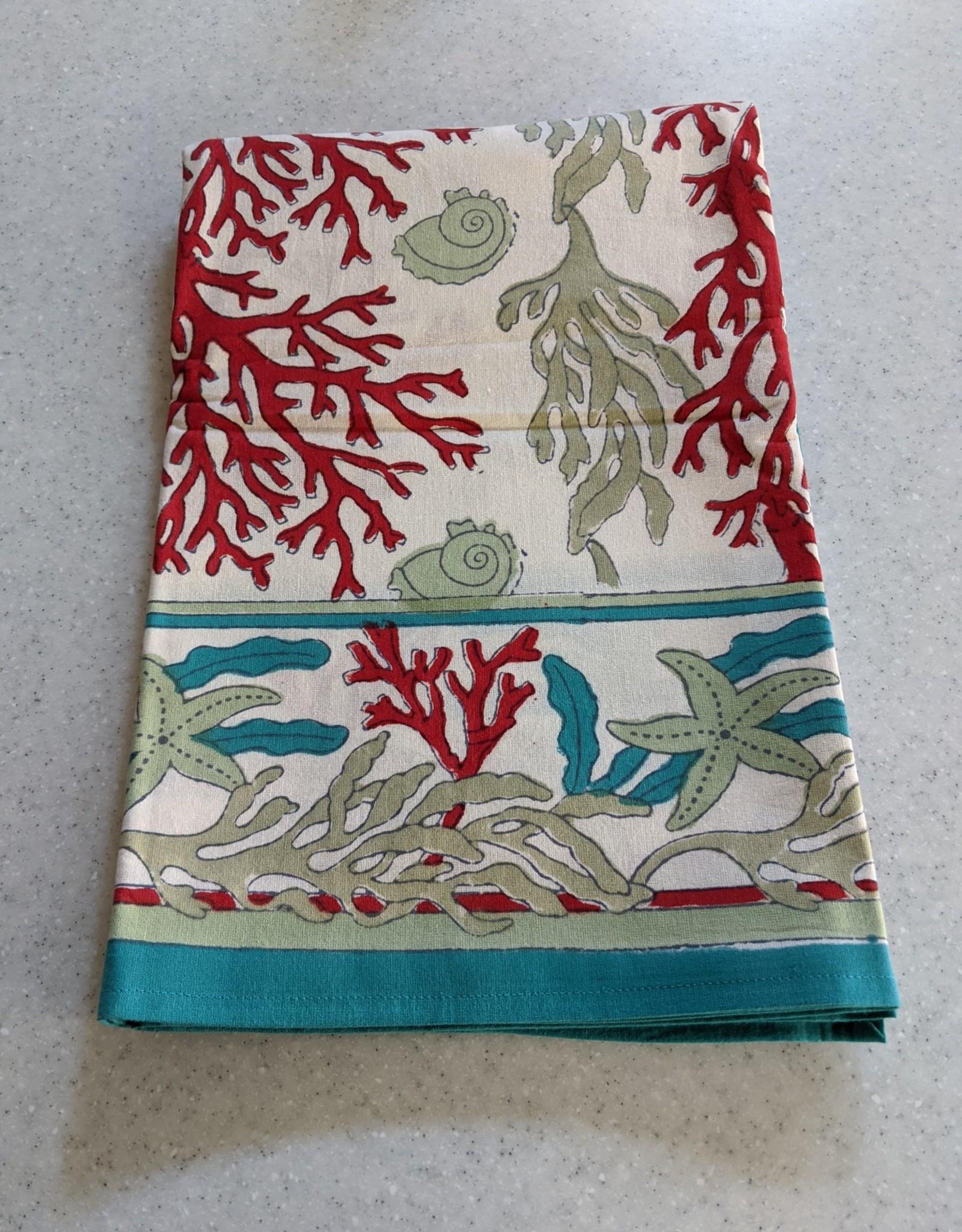 Natural Habitat Hand Blocked Tablecloth 60x60