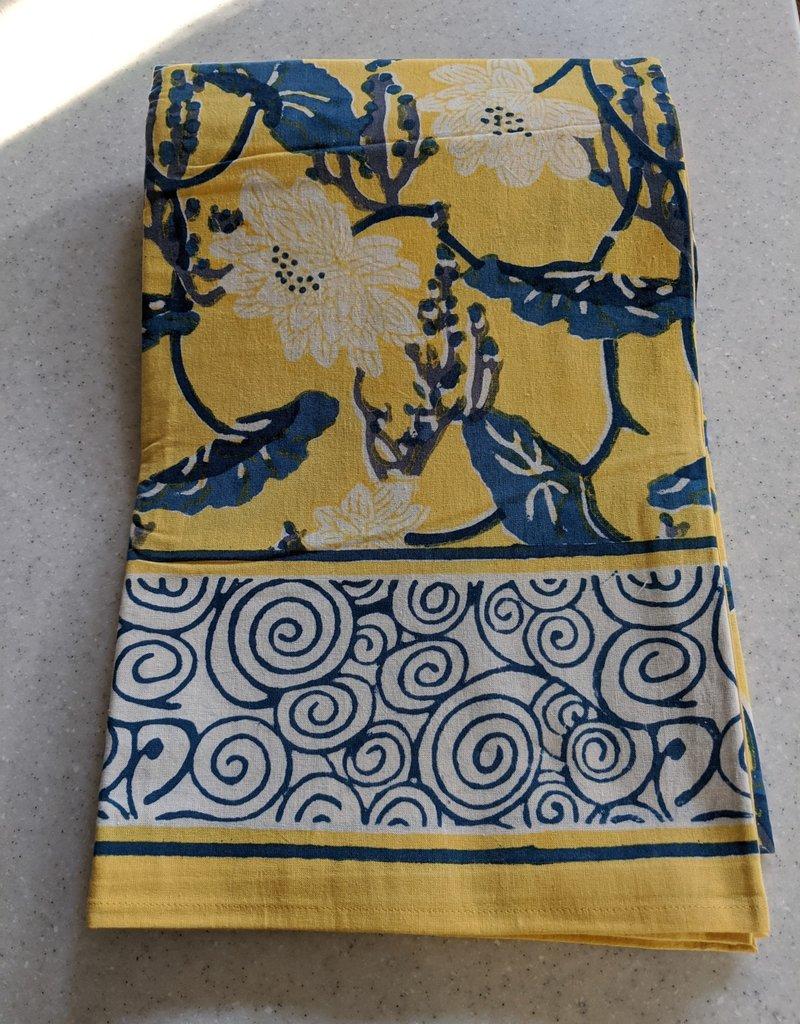 Natural Habitat Hand Blocked Tablecloth 60x90