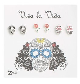 3 Stud Earring Sets on Card