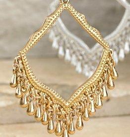 Urbanista Metal Beaded Chandelier Earrings