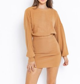 Le Lis Camel Sweater Dress