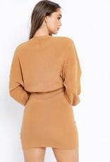 Le Lis Camel Sweater Dress