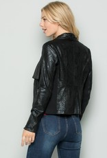 See and Be Seen Snakeskin Moto Jacket