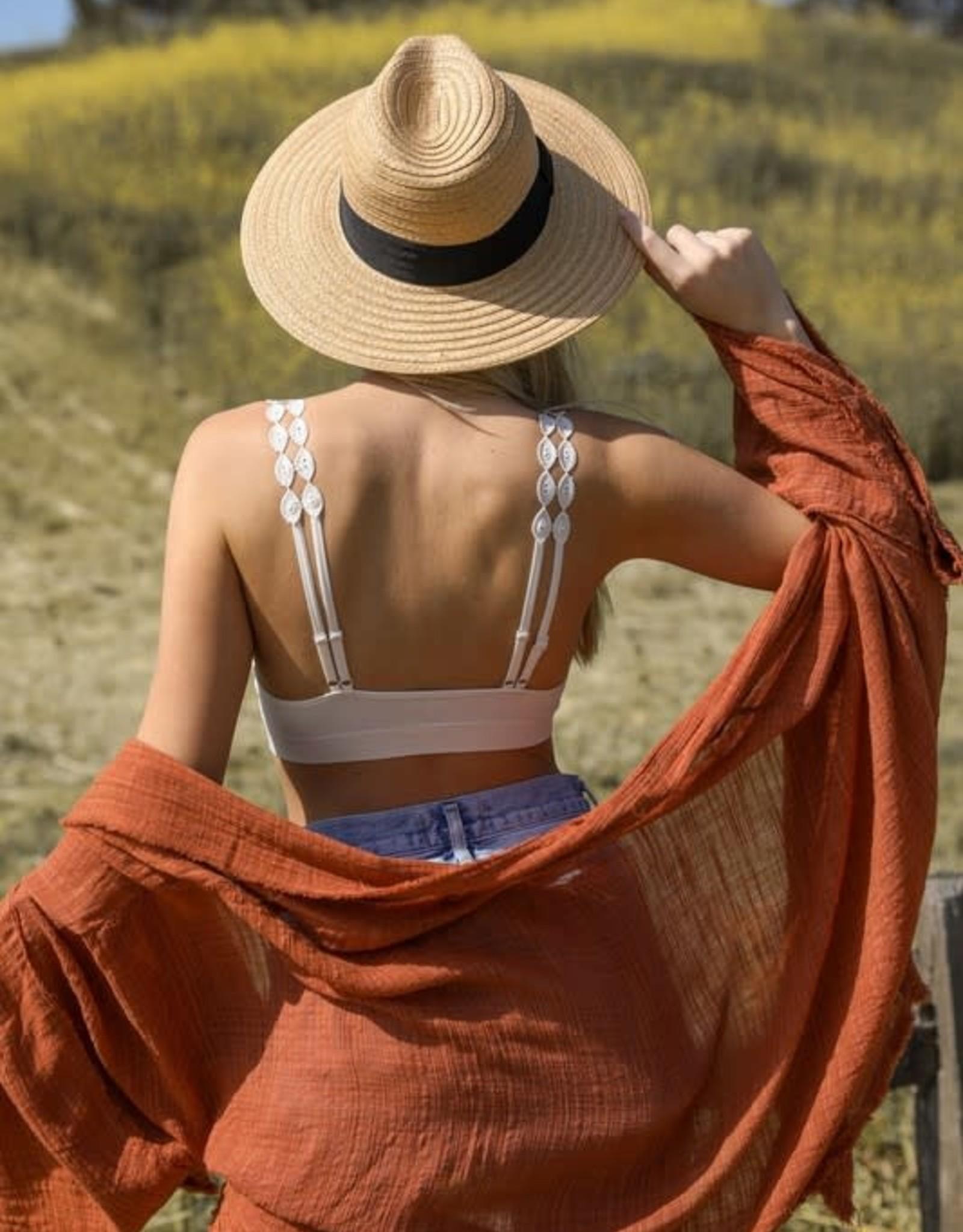Leto Accessories Boho Lace Bralette