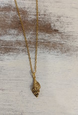 Bird in the Sky Gold Seashell Necklace