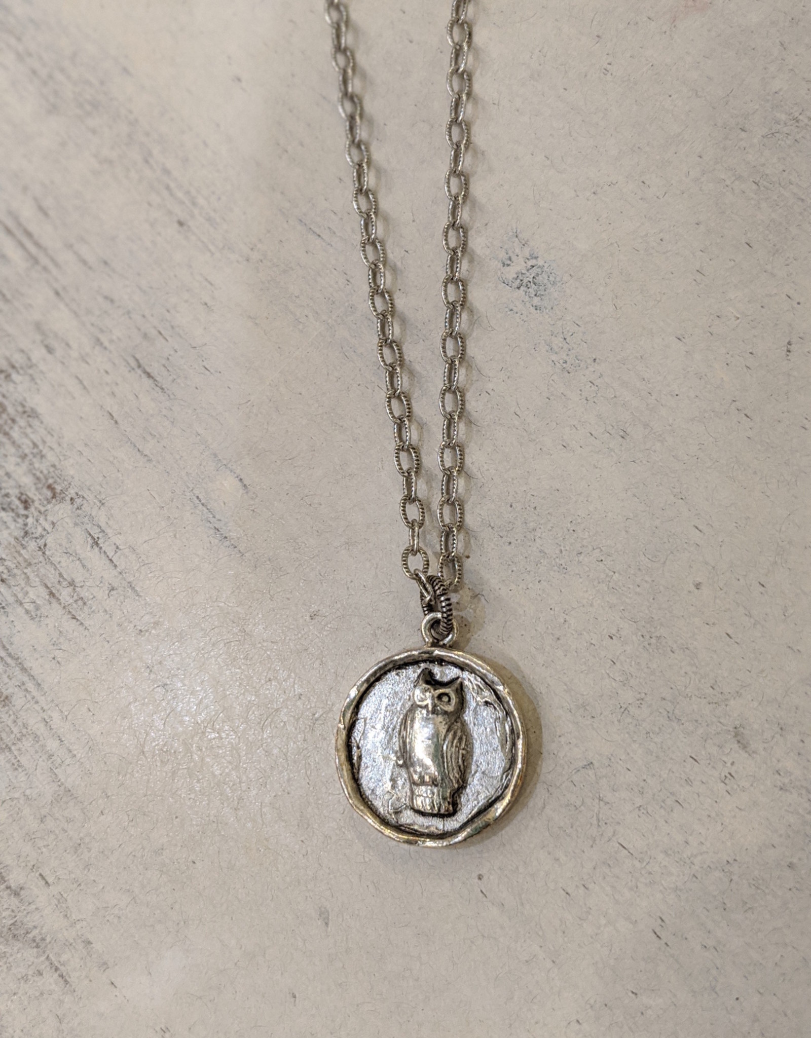 Bird in the Sky Silver Owl Necklace