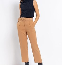 Le Lis Camel High Waist Belted Pants