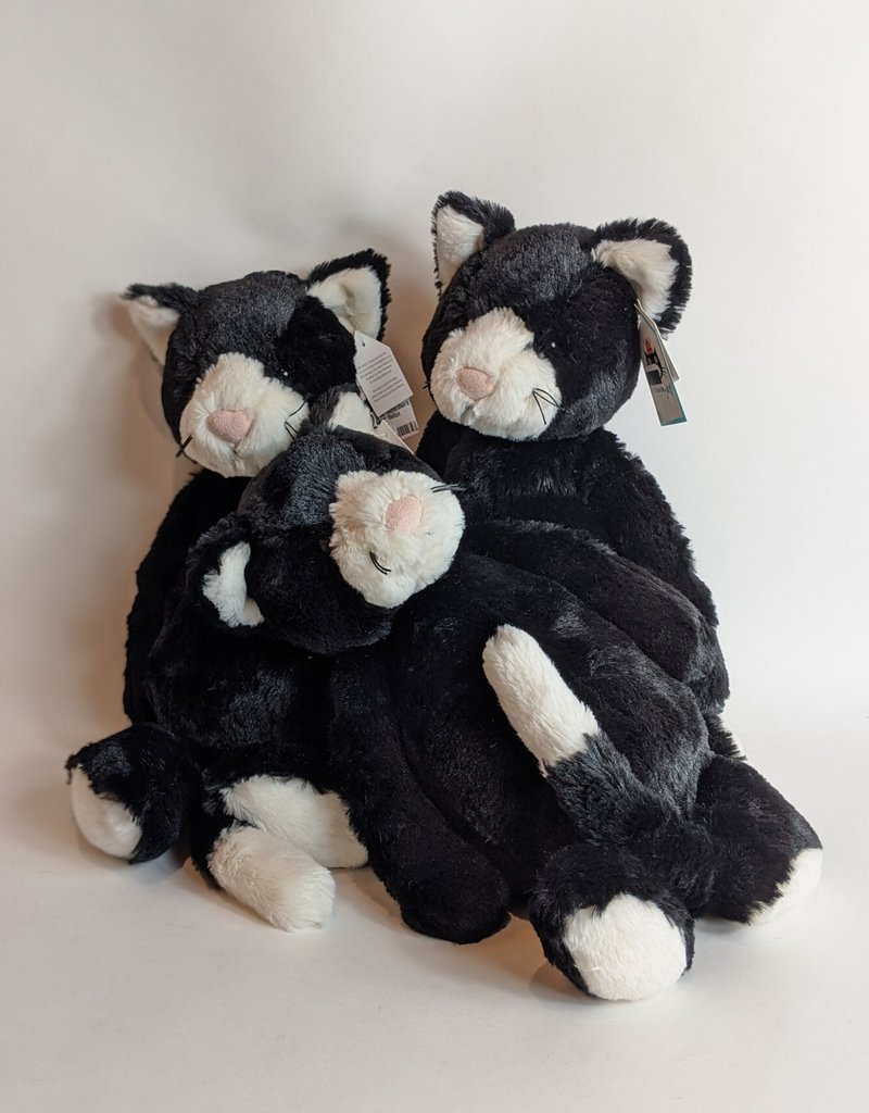 JellyCat Bashful Black & White Cat Medium