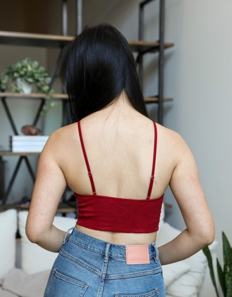 Leto Accessories Seamless Textured Brami