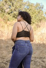 Leto Accessories Crochet Lace Bralette Plus