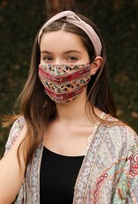 Leto Accessories Embroidered Face Mask w/Filter Pocket